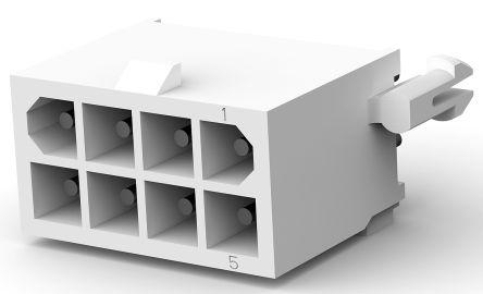TE Connectivity , Mini-Universal MATE-N-LOK, 8 Way, Straight PCB Header (5)