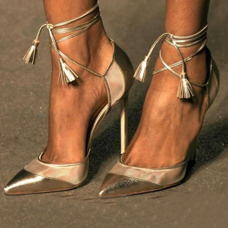 Ericdress Pointed-toe Stiletto Sandals