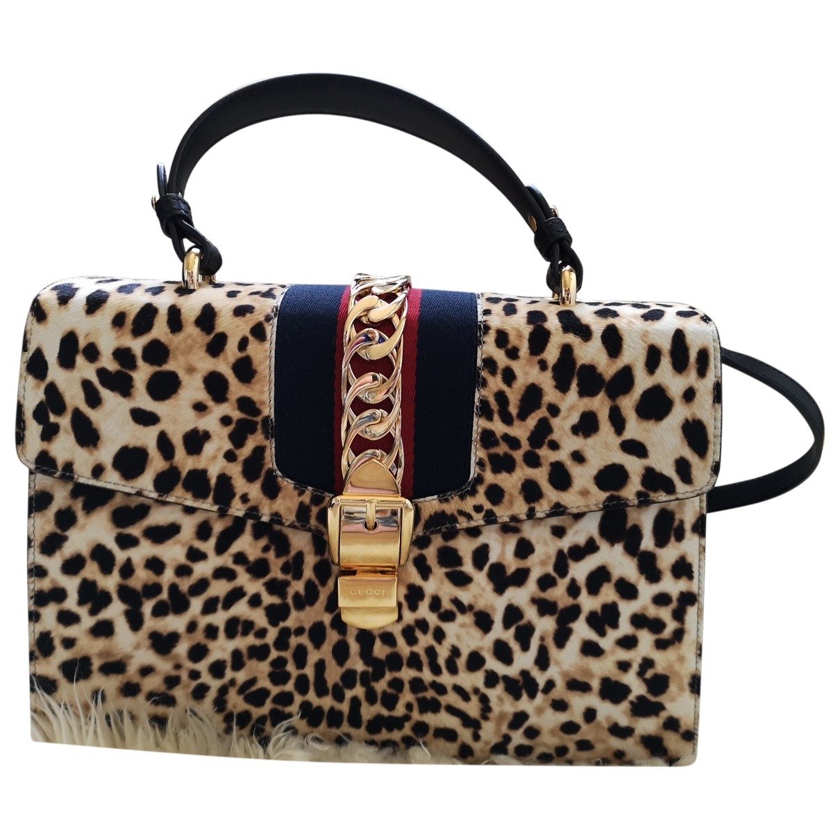 Gucci Sylvie Multicolour Pony-style calfskin handbag for Women \N