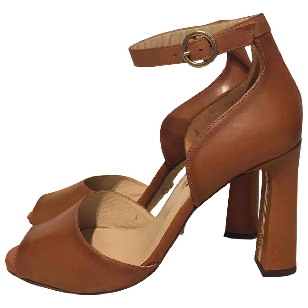 Massimo Dutti \N Brown Leather Heels for Women 37 EU