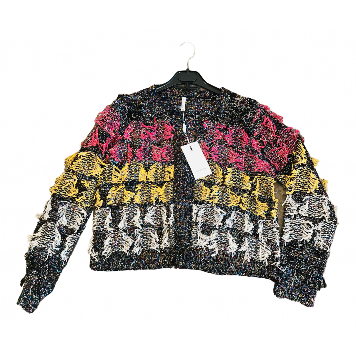 Non Signé / Unsigned Oversize Multicolour Wool Knitwear for Women M International