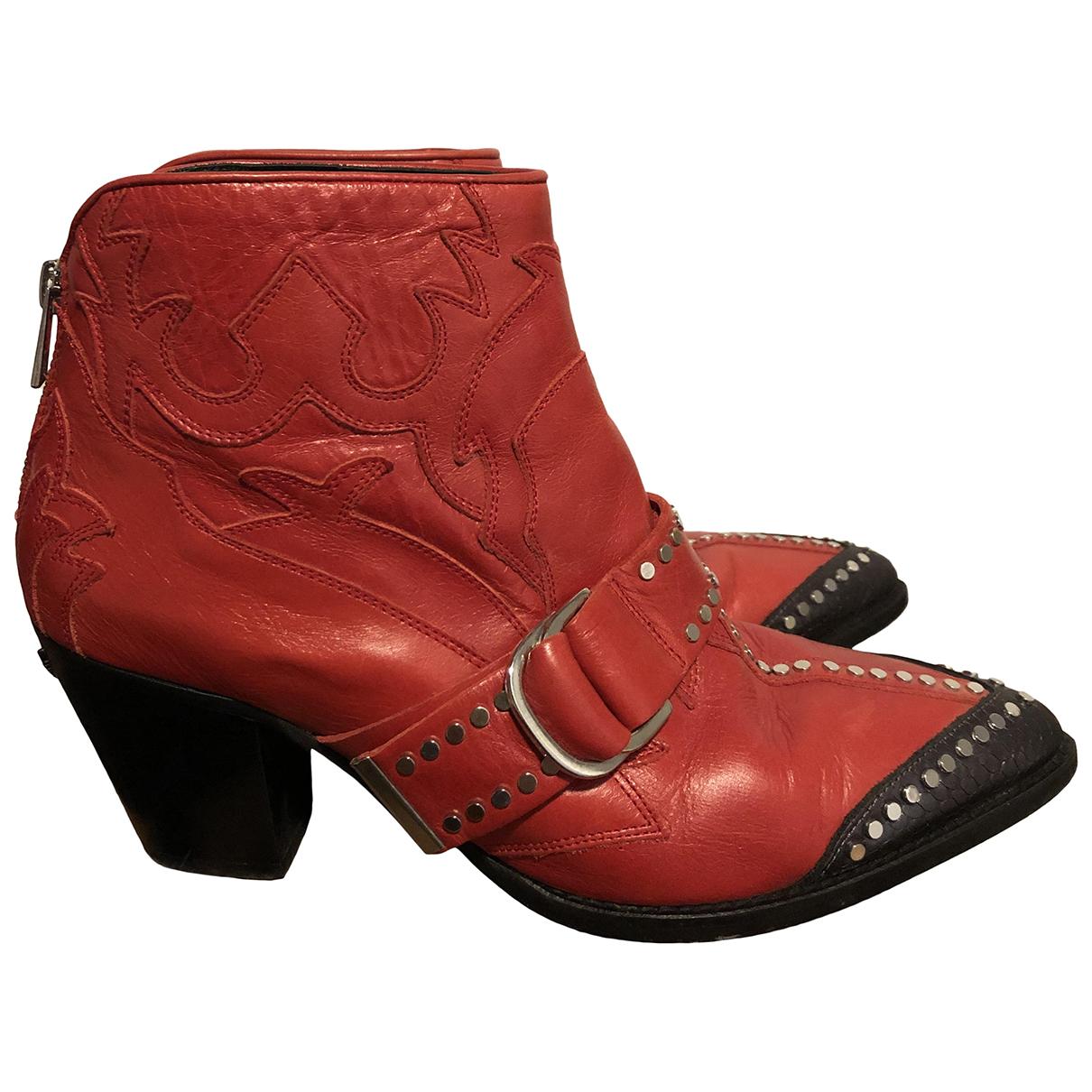 Zadig & Voltaire - Boots Cara pour femme en cuir - rouge