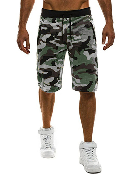 Yoins INCERUN Men Stylish Camouflage Gym Sports Joggers Sweatpants Bodybuilding Workout Shorts