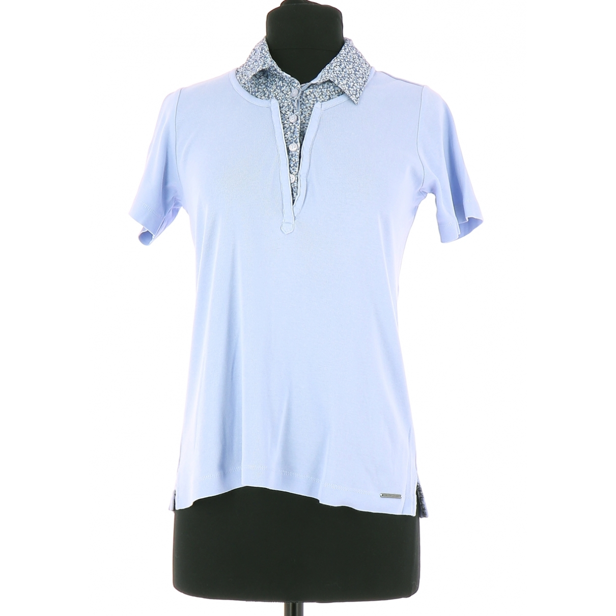 Non Signé / Unsigned \N Blue Cotton  top for Women 36 FR