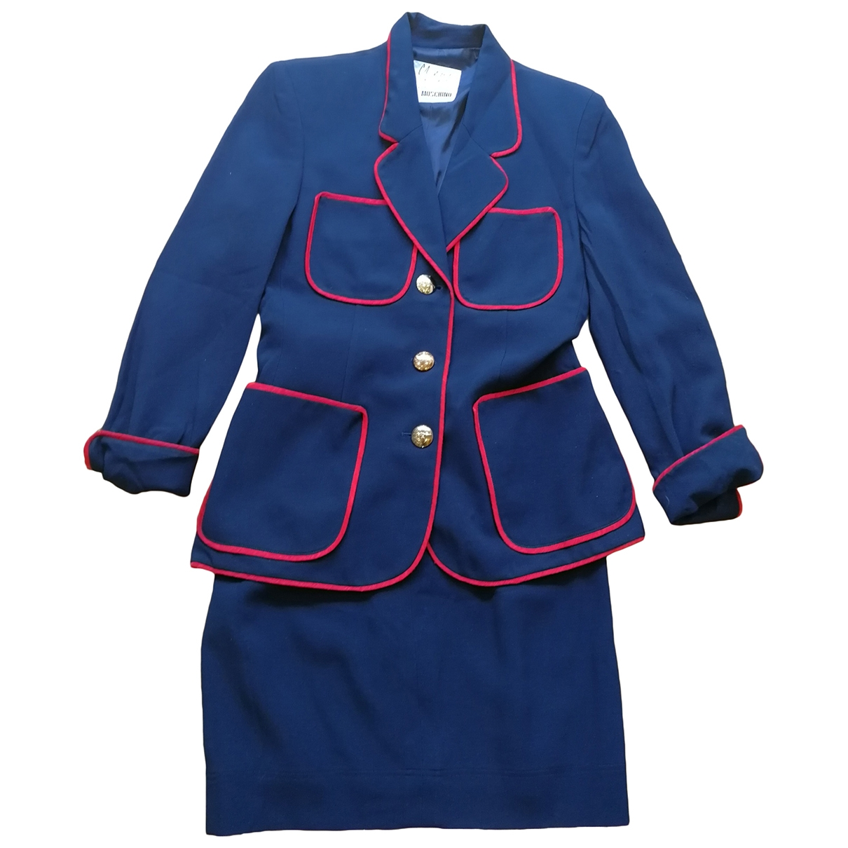 Moschino Cheap And Chic \N Jacke in  Marine Polyester