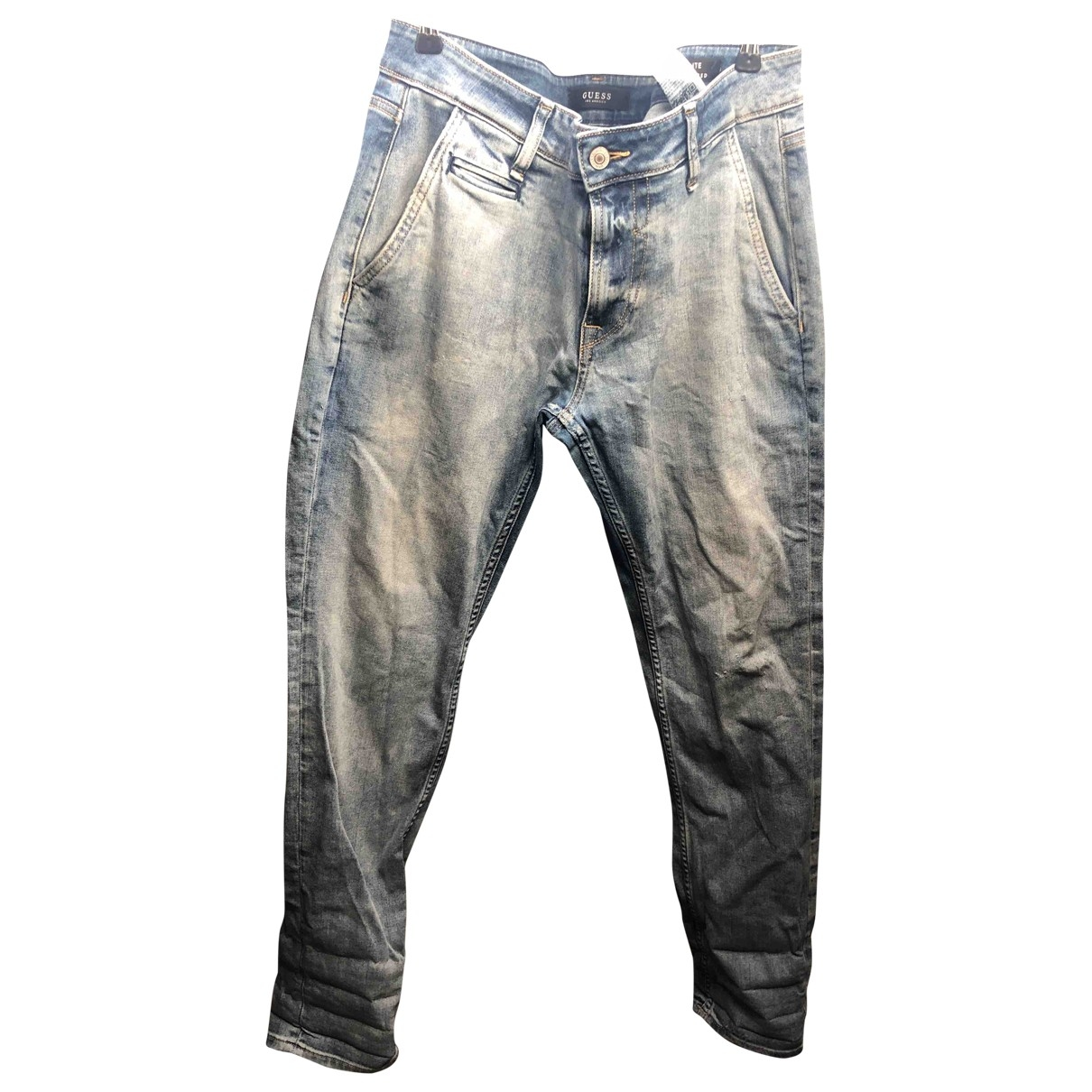 Guess - Jean   pour homme en coton - elasthane - anthracite