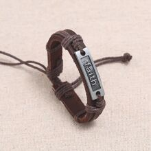 Maenner Armband mit Metall Dekor
