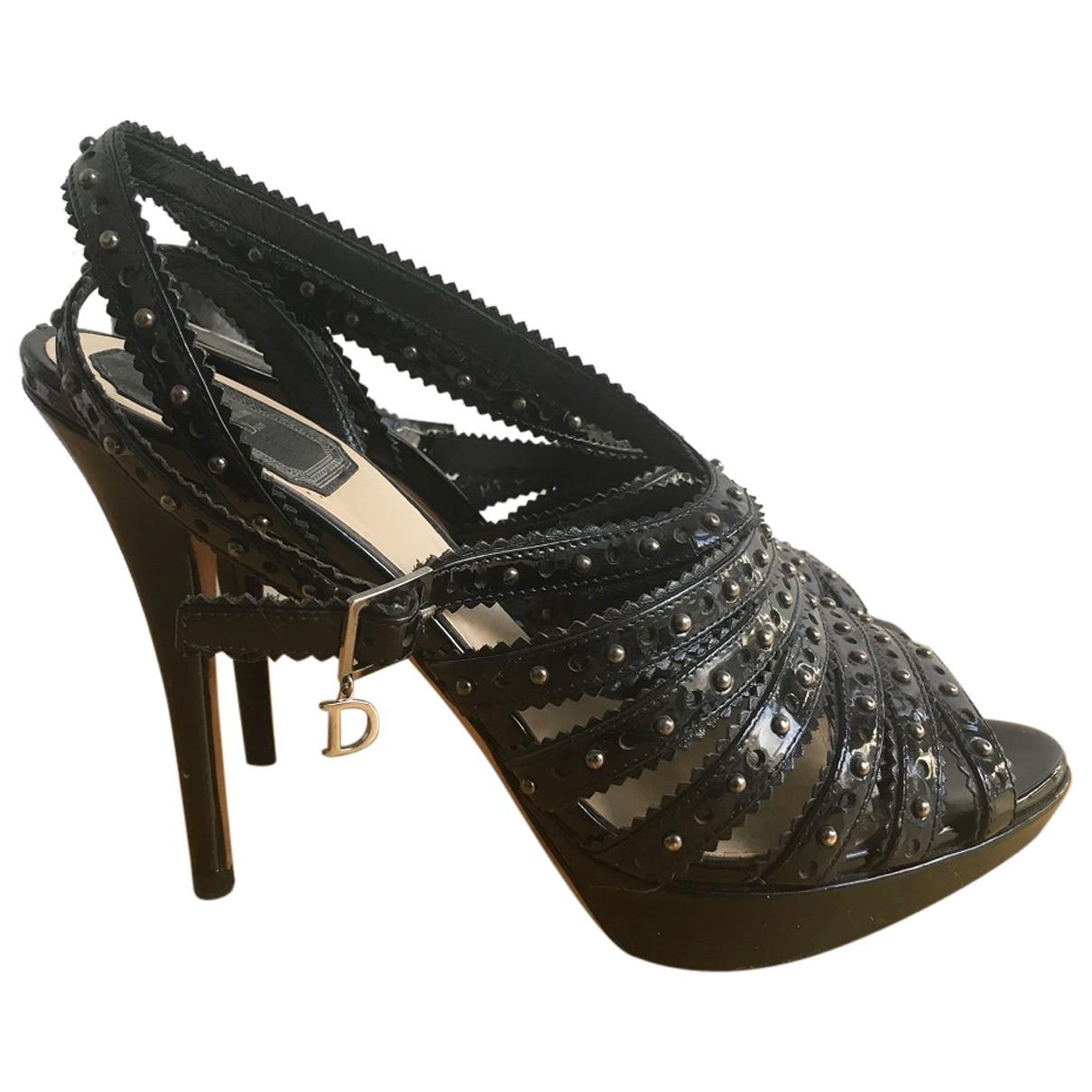 Dior \N Sandalen in  Schwarz Lackleder