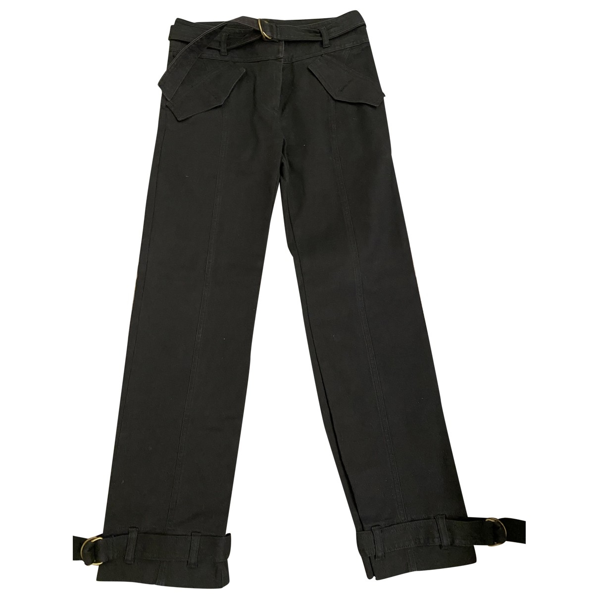 Comptoir Des Cotonniers \N Black Cotton Trousers for Women 36 FR