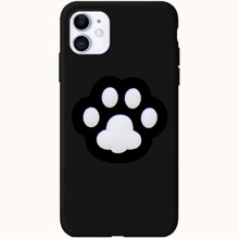 1pc Solid iPhone Case With 1pc Cartoon Phone Holder