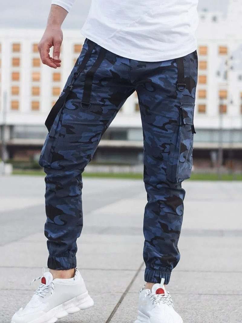 Ericdress Pencil Pants Camouflage Pocket Mid Waist Casual Casual Pants