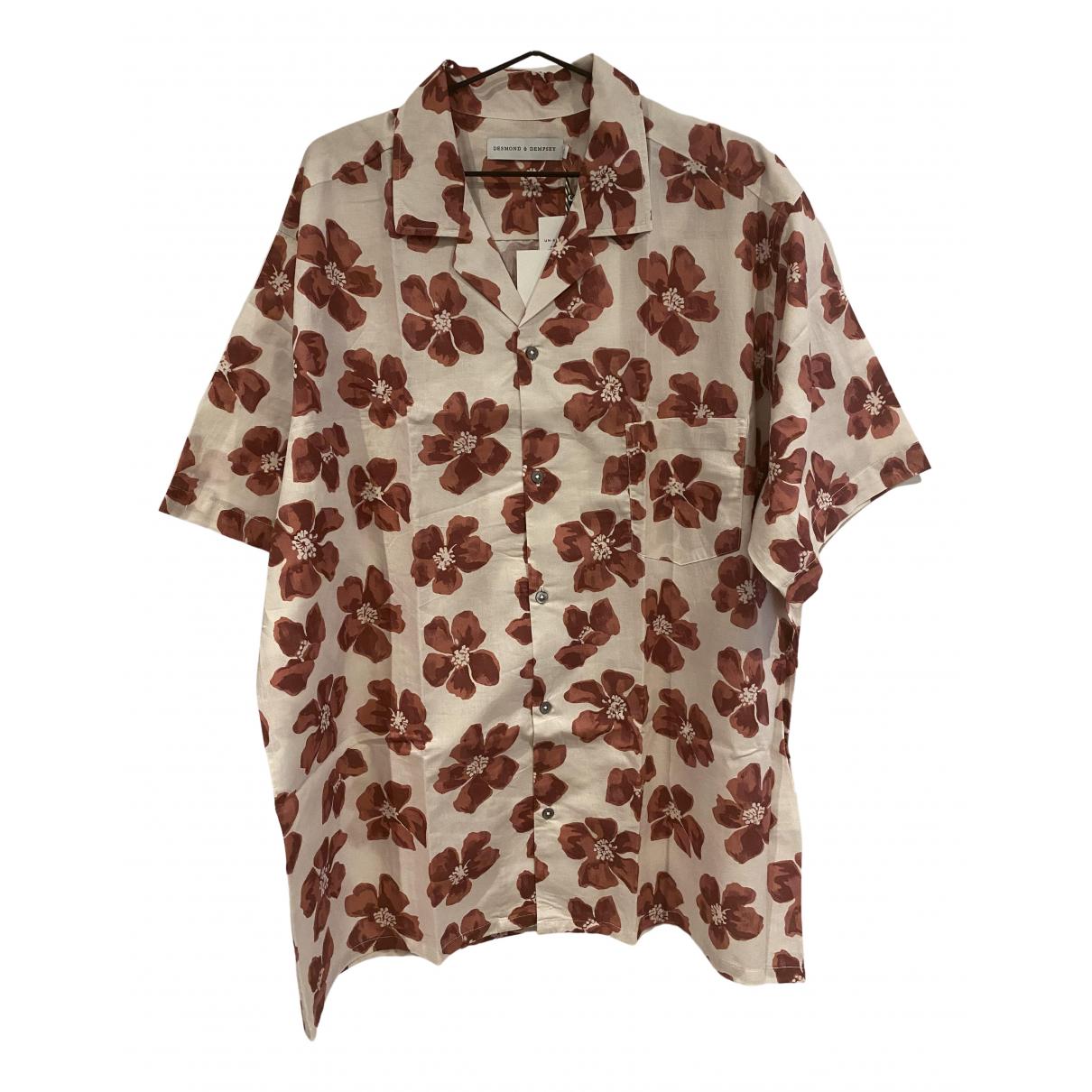 Desmond & Dempsey - Chemises   pour homme en coton - rouge