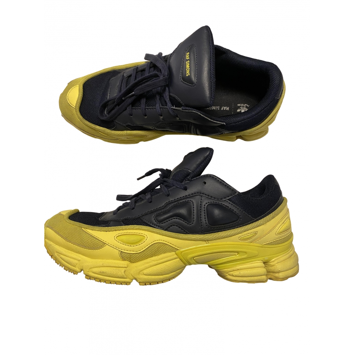 Adidas X Raf Simons - Baskets Ozweego 2 pour homme en caoutchouc - jaune