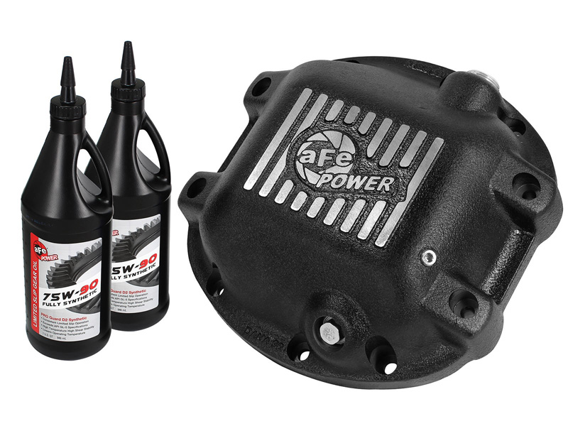 aFe POWER 46-70192-WL Differential Cover, Machined Fins w/ Gear Oil Jeep 97-16 (Dana 30 Axles)