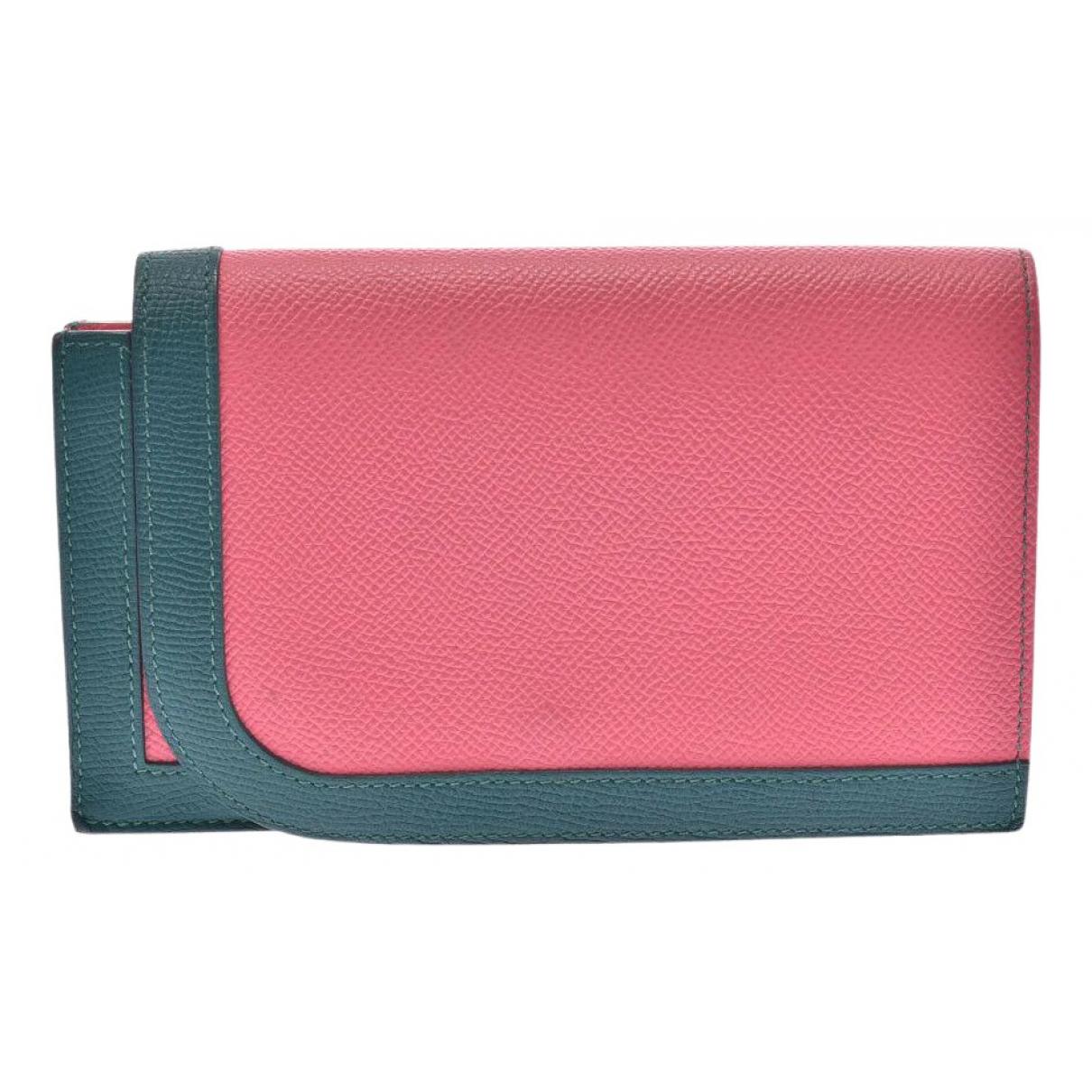 Hermes - Portefeuille   pour femme en cuir - rose