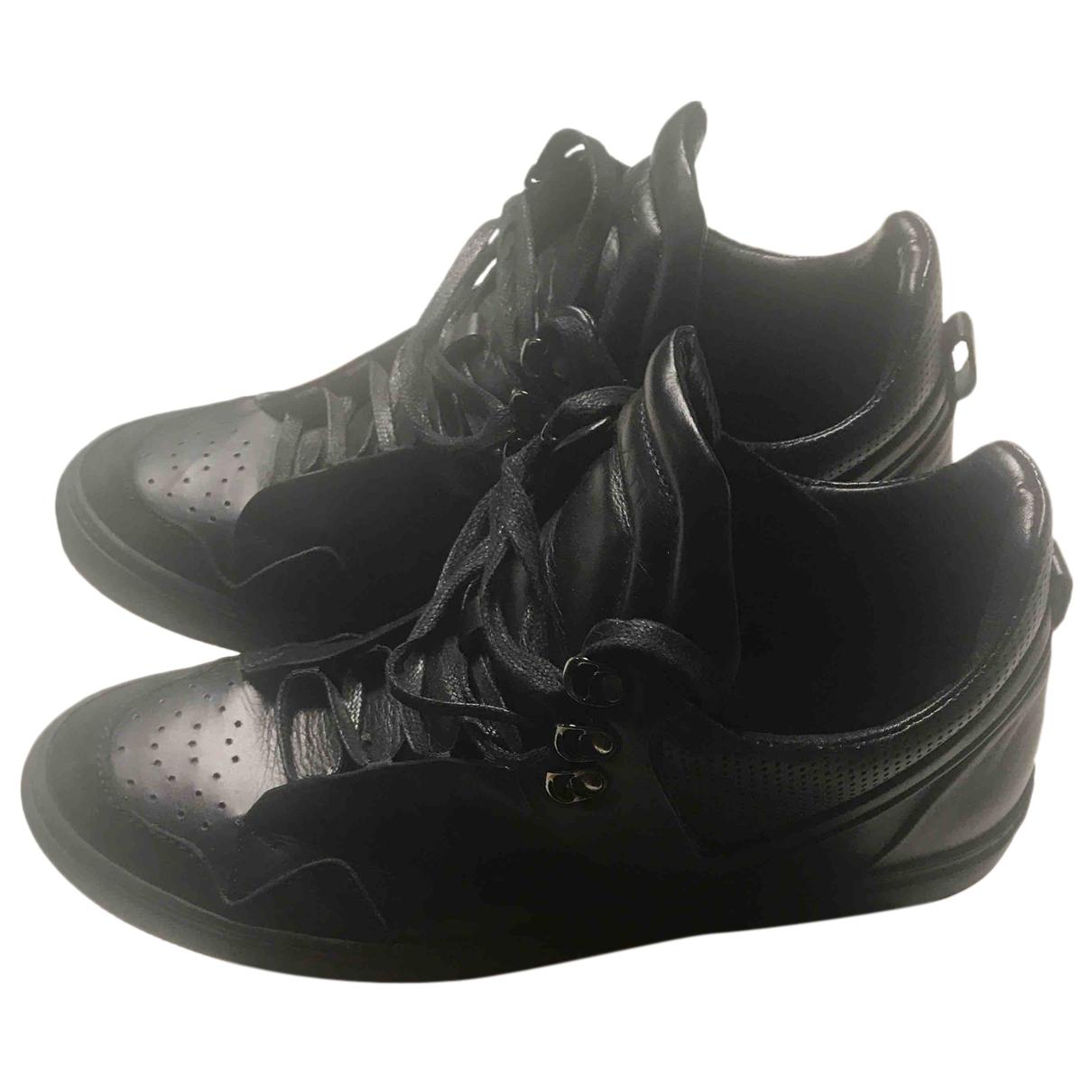 Autre Marque N Black Leather Trainers for Men 43 EU