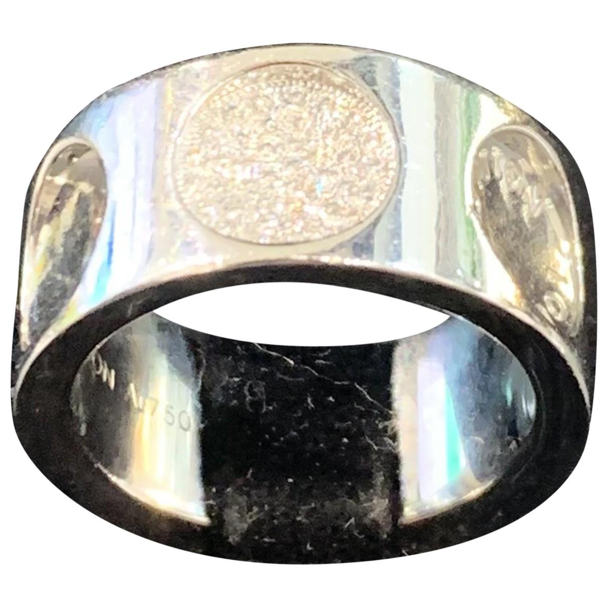 Louis Vuitton Empreinte Ring in  Weiss Weissgold