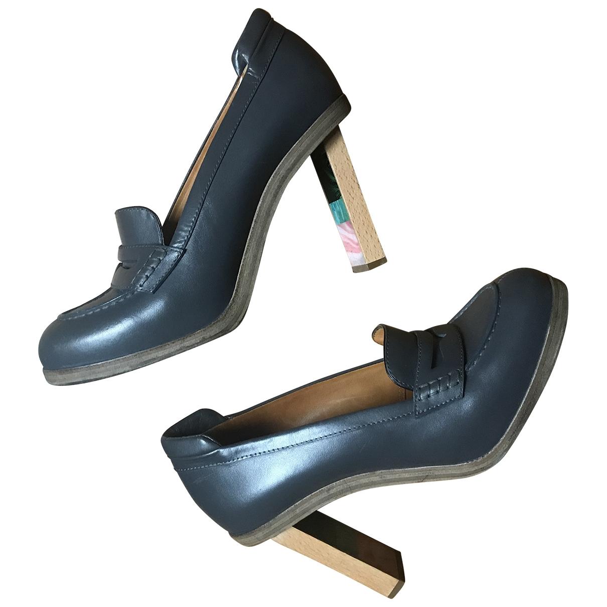 Balenciaga - Escarpins   pour femme en cuir - anthracite