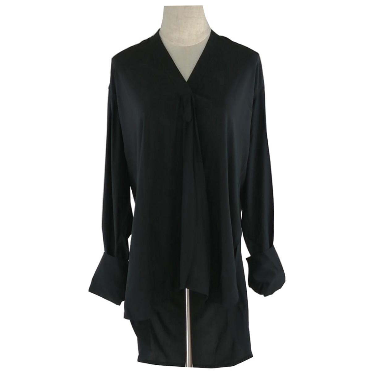 Celine - Top   pour femme en soie - noir