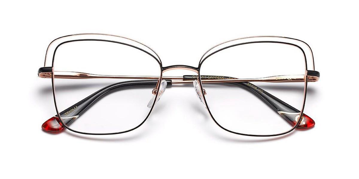 Etnia Barcelona Orient Express BKPG Women's Glasses Black Size 53 - Free Lenses - HSA/FSA Insurance - Blue Light Block Available