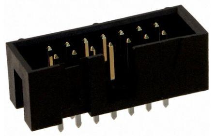 TE Connectivity , AMP-LATCH, 14 Way, 2 Row, Straight PCB Header (10)