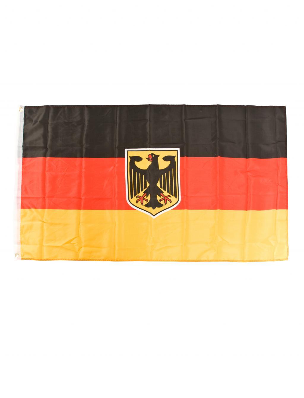 Flagge Deutschland mit Adler 90x60cm Farbe: schwarz/rot/gold