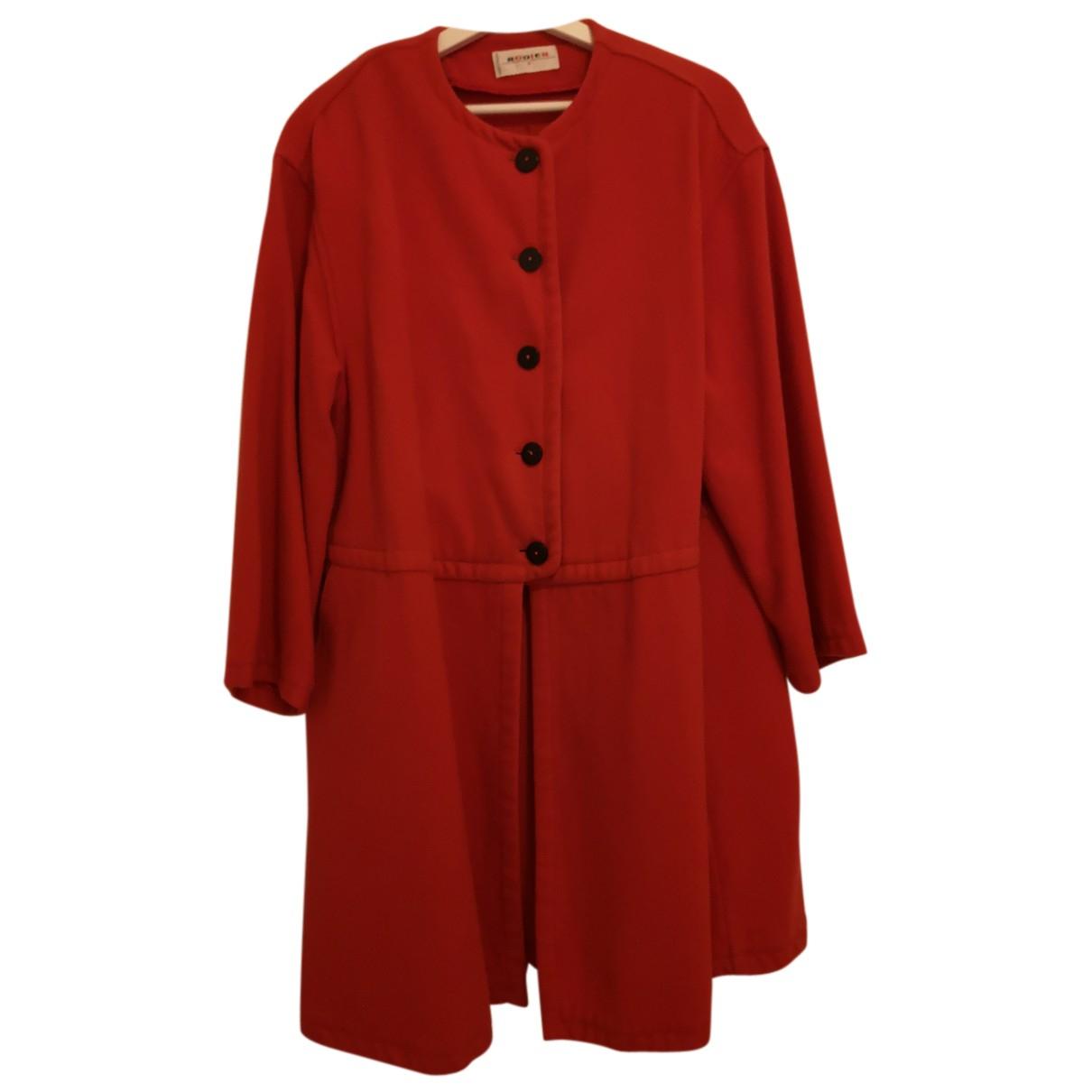 Rodier - Manteau   pour femme en laine - rouge