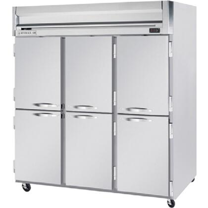 HFP3-5HS Horizon Series Three Section Solid Half Door Reach-In Freezer  74 cu.ft. Capacity  Stainless Steel Front and Sides  Aluminum