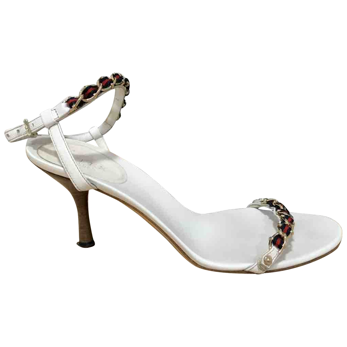 Gucci \N White Leather Sandals for Women 37 EU