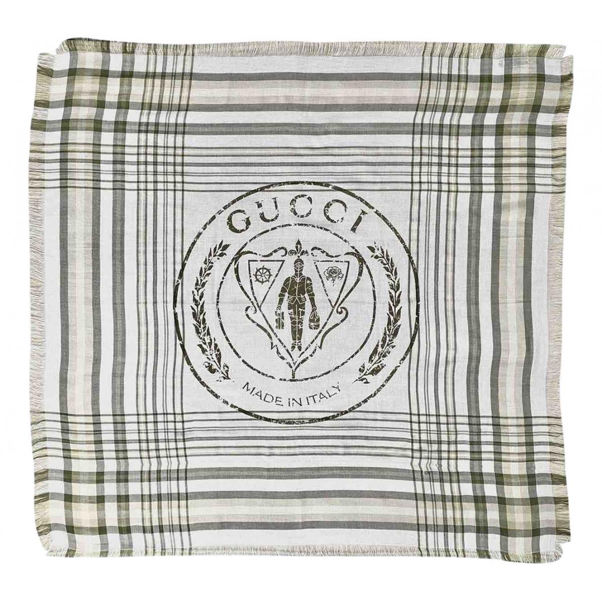 Gucci - Foulard   pour femme en coton - kaki