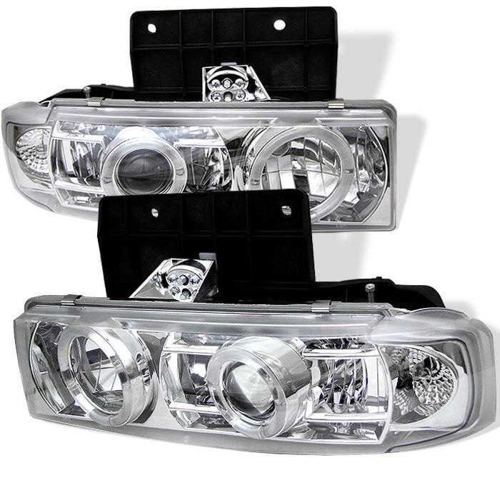 Spyder Auto PRO-YD-CA95-HL-C Chrome LED Halo Projector Headlights Chevrolet Astro 95-05