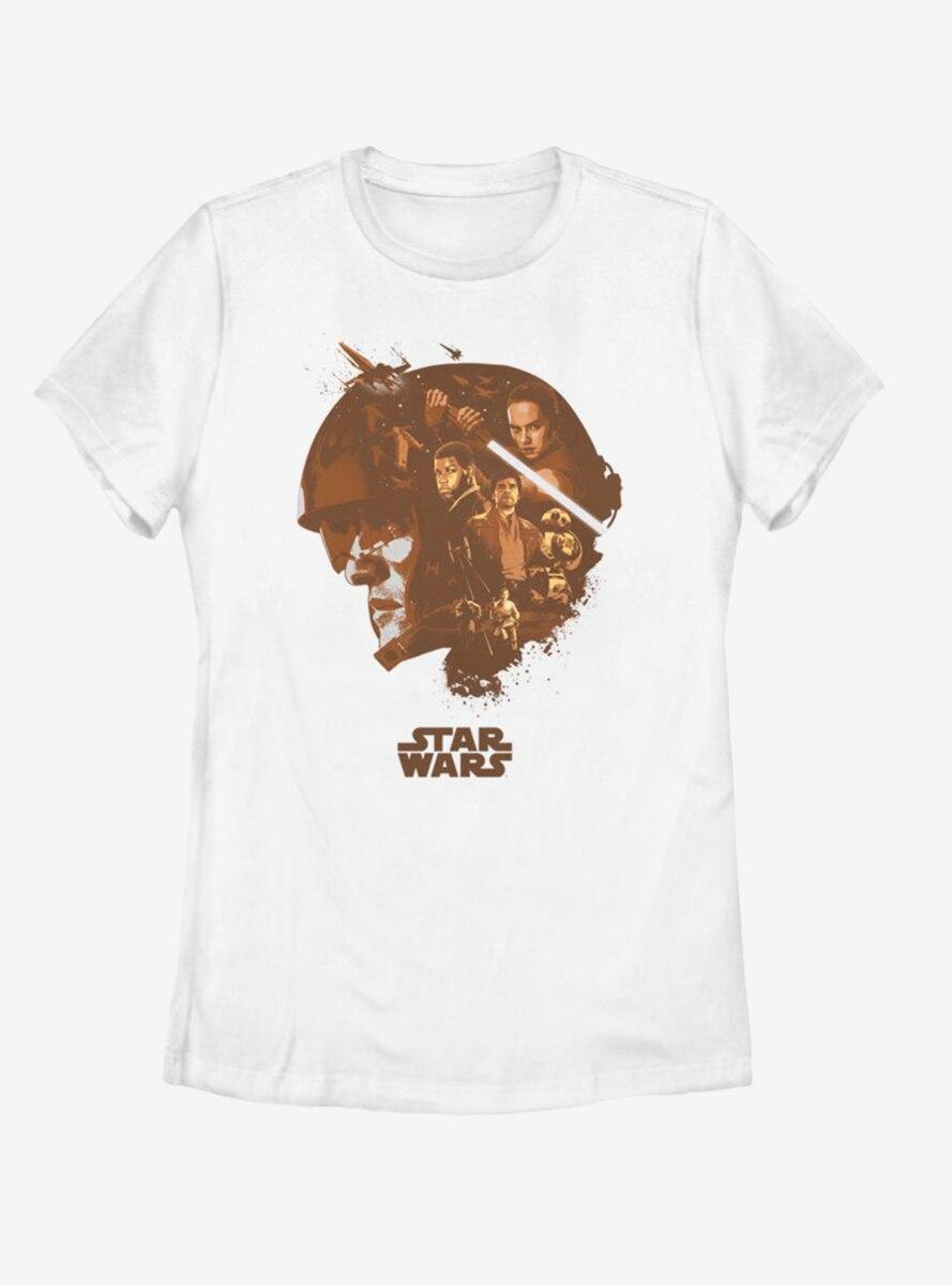 Star Wars: The Force Awakens Poe Head Fill Womens T-Shirt