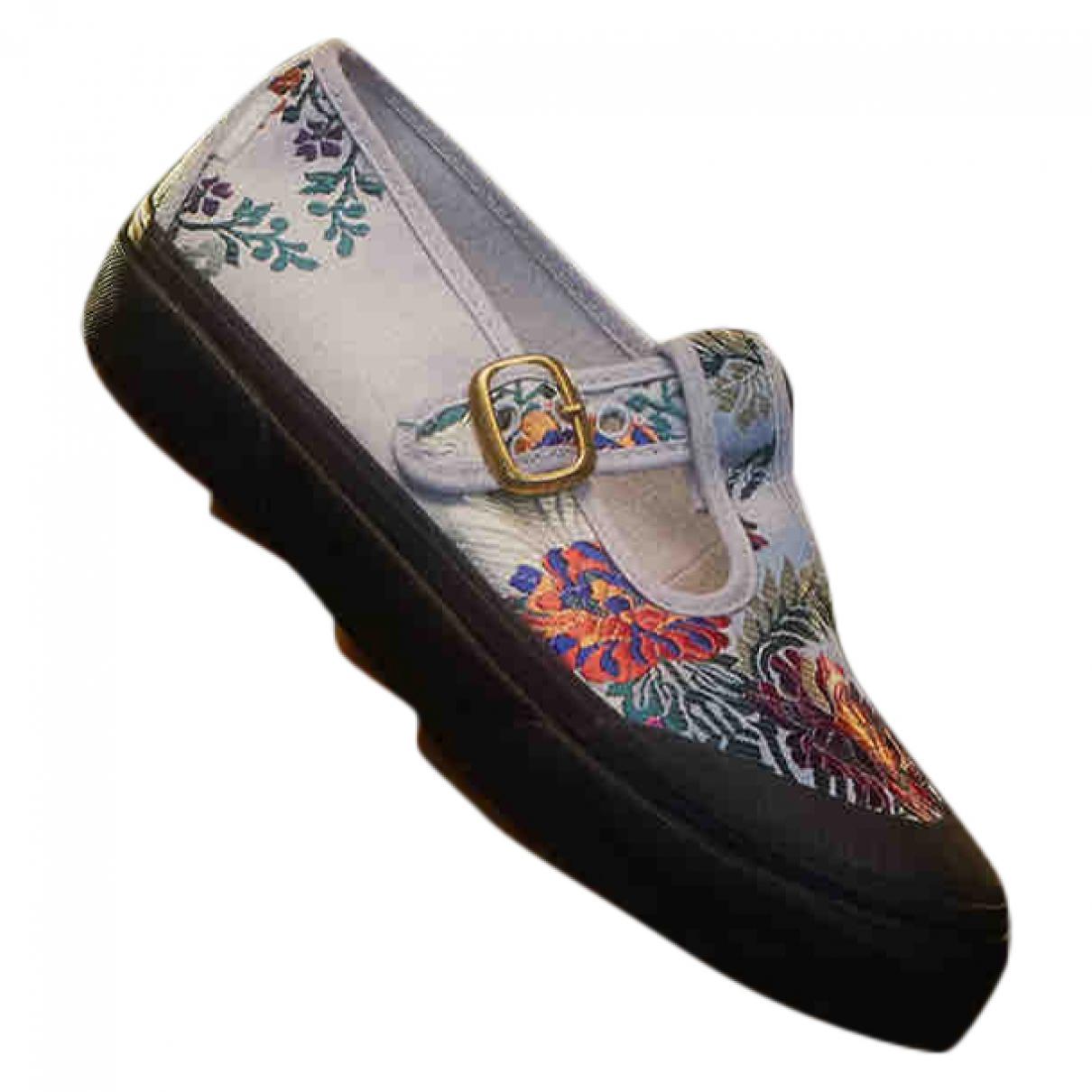 Vans \N Sneakers in  Weiss Leinen