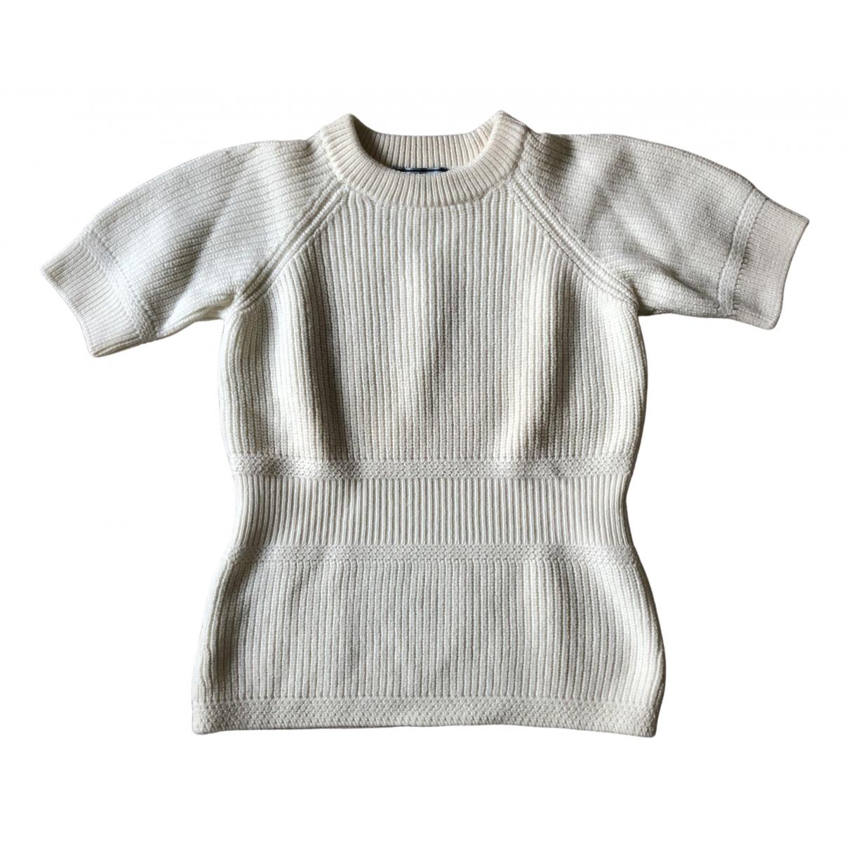 Prada - Pull   pour femme en laine - ecru