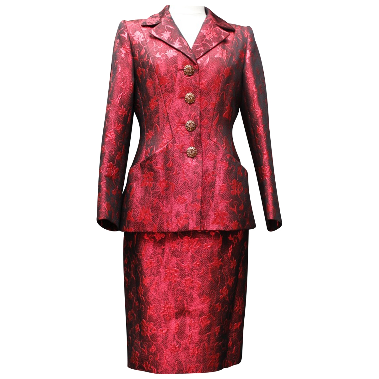 Yves Saint Laurent - Veste   pour femme en laine - rouge