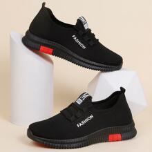 Sneakers mit Band Dekor und Buchstaben Grafik