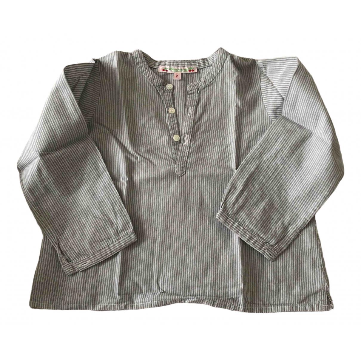 Bonpoint - Top   pour enfant en coton - gris