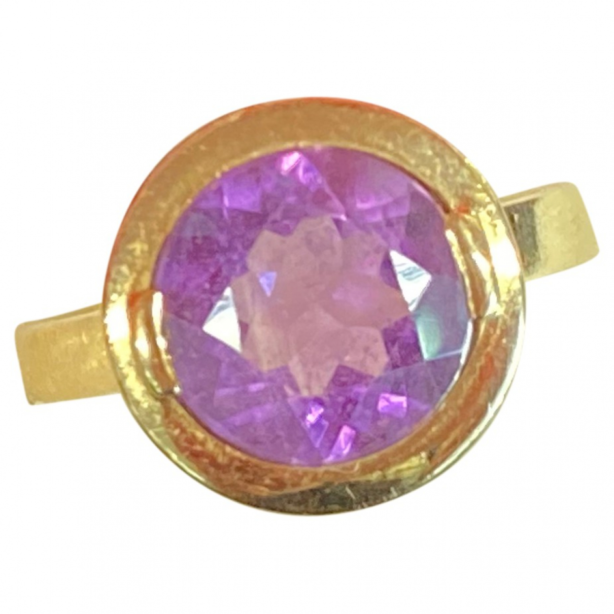 Non Signé / Unsigned Améthyste Purple Yellow gold ring for Women 52 EU