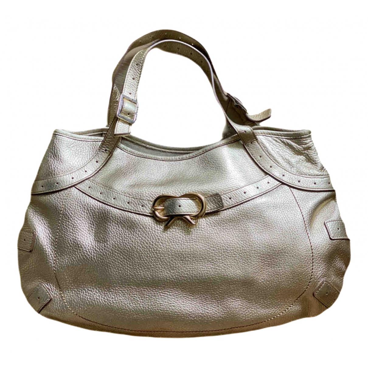 Anya Hindmarch N Gold Leather handbag for Women N