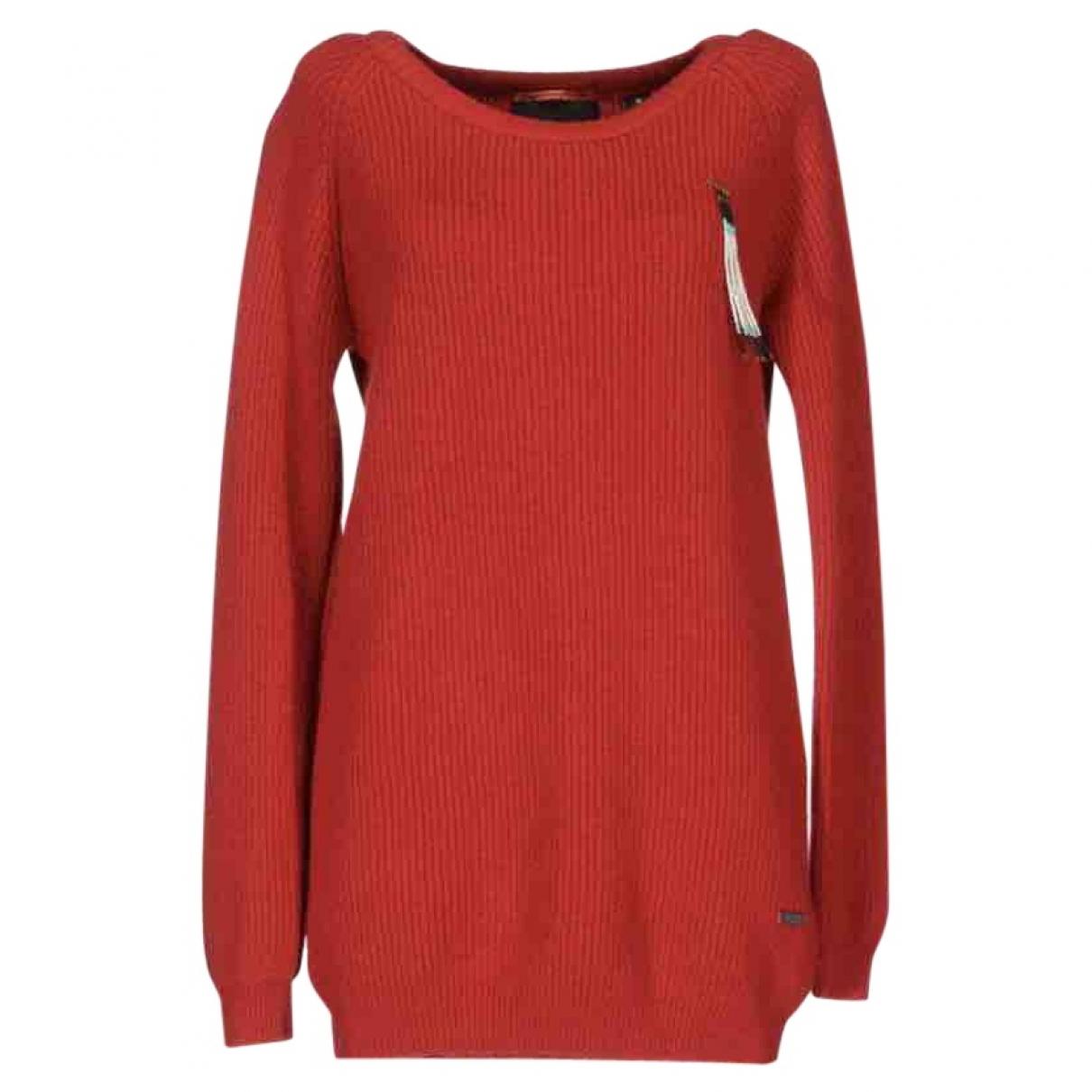 Maison Scotch - Pull   pour femme en laine - rouge