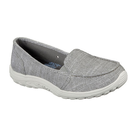 Skechers Womens Reggae Fest - Manazita Slip-On Shoe, 7 1/2 Medium, Gray