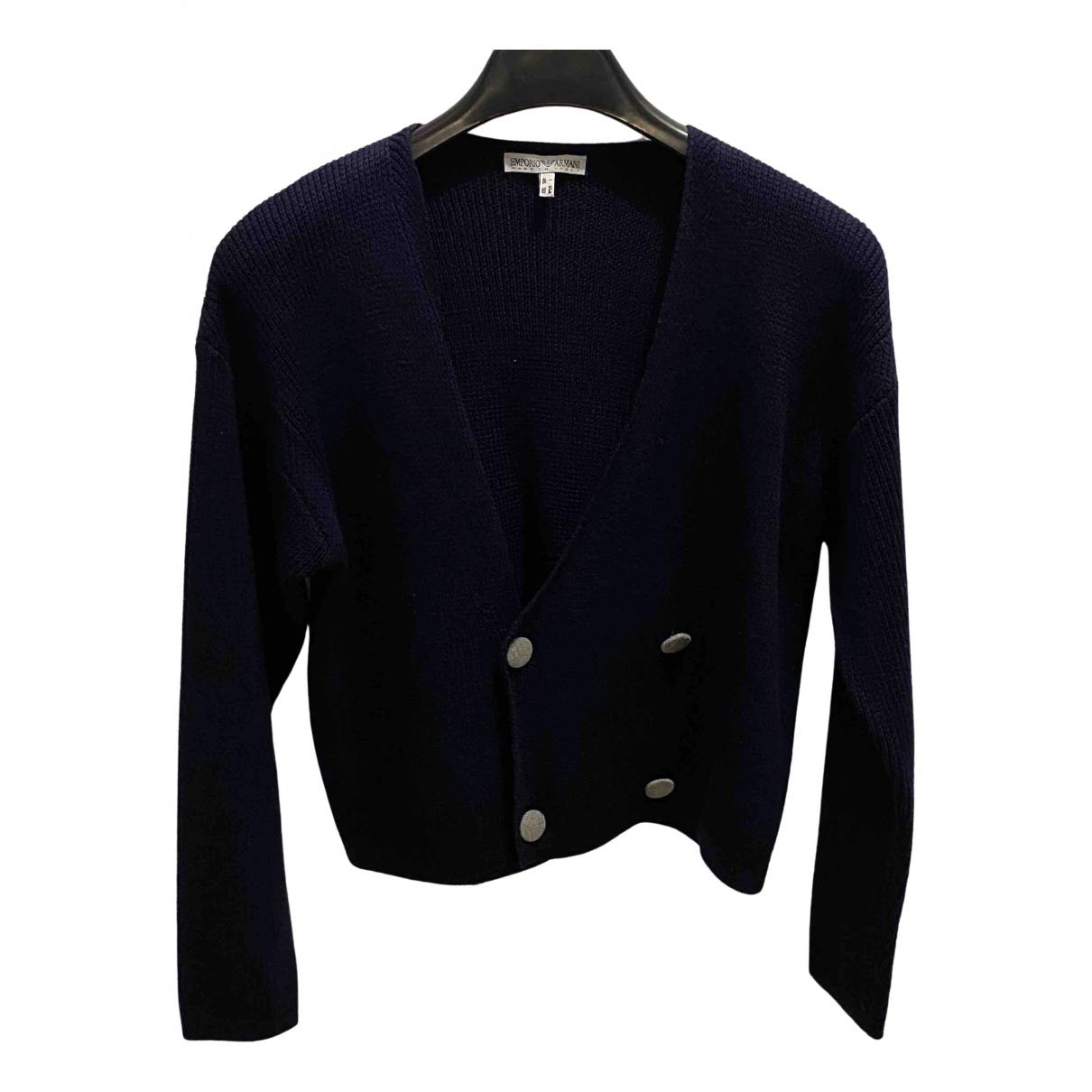 Emporio Armani \N Blue Wool Knitwear for Women 46 IT