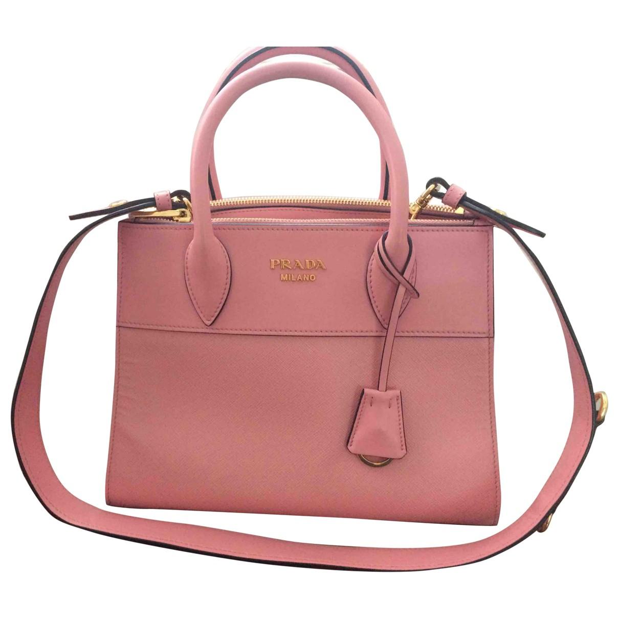 Prada - Sac a main Paradigme pour femme en cuir - rose