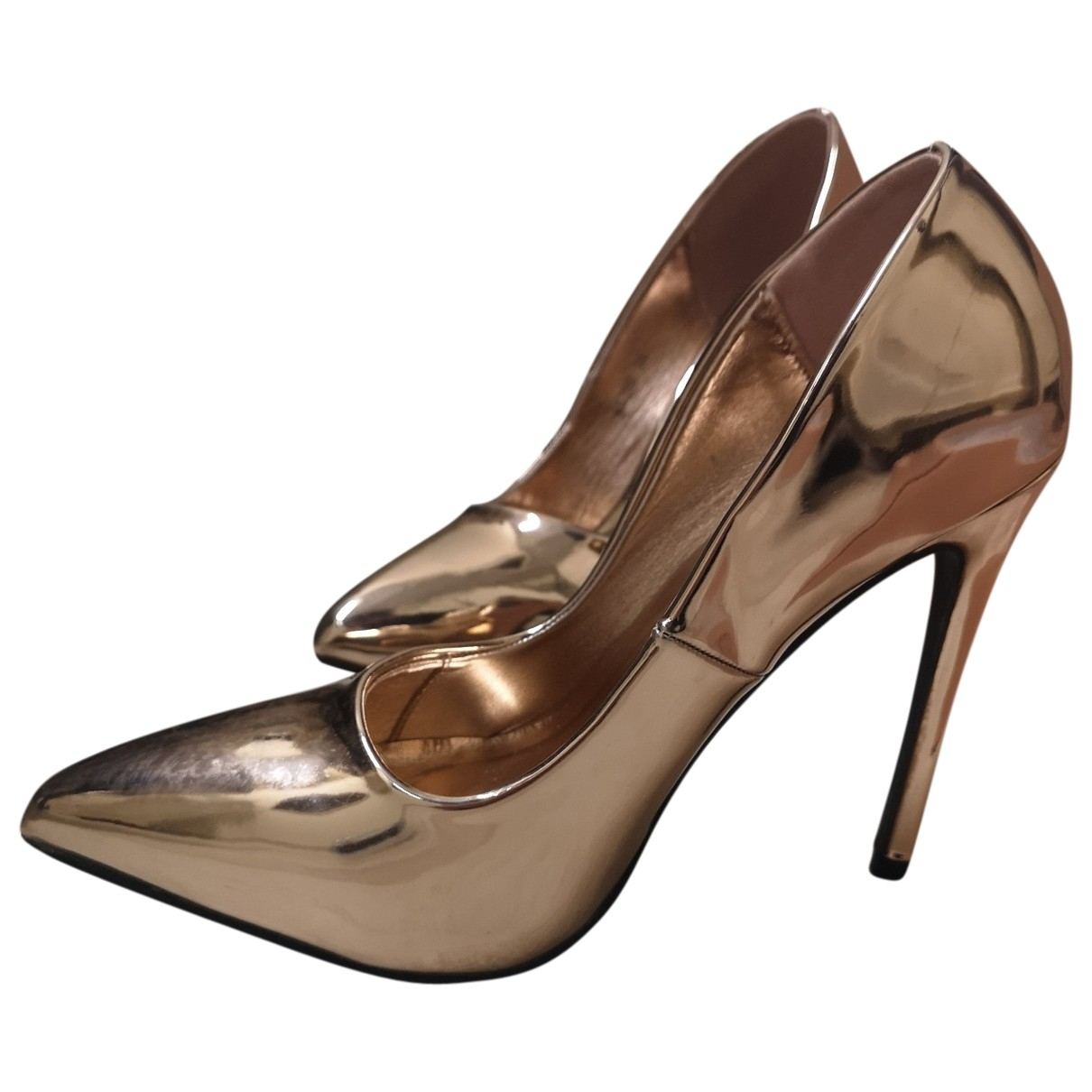Non Signé / Unsigned \N Metallic Patent leather Heels for Women 36 EU