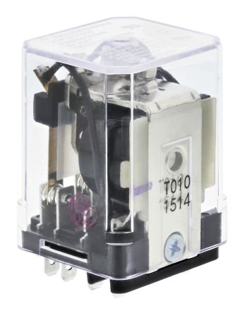 TE Connectivity , 24V dc Coil Non-Latching Relay 3PDT, 10A Switching Current Plug In, 3 Pole