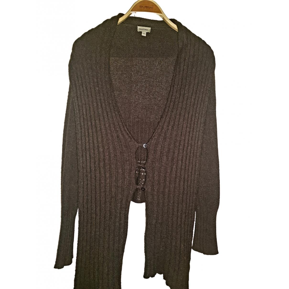 Henry Cotton - Pull   pour femme en laine - marron