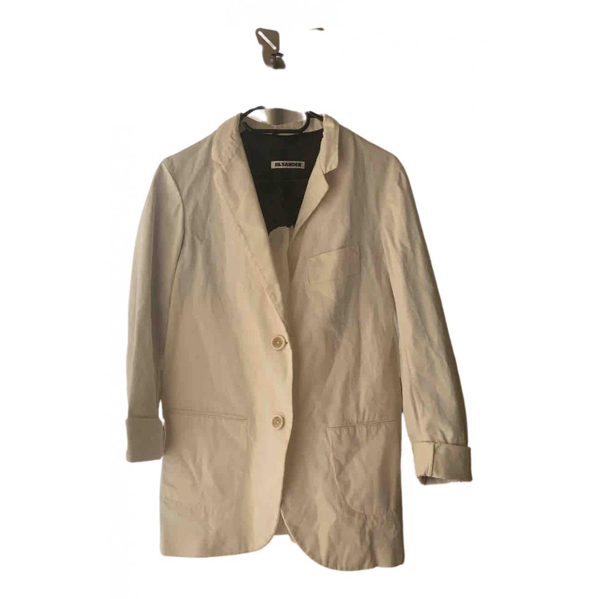 Jil Sander - Veste   pour femme en coton - bleu
