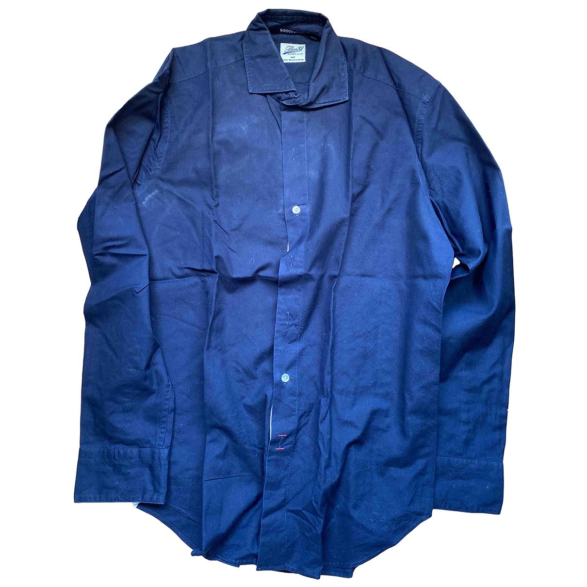 Boggi \N Hemden in  Blau Baumwolle