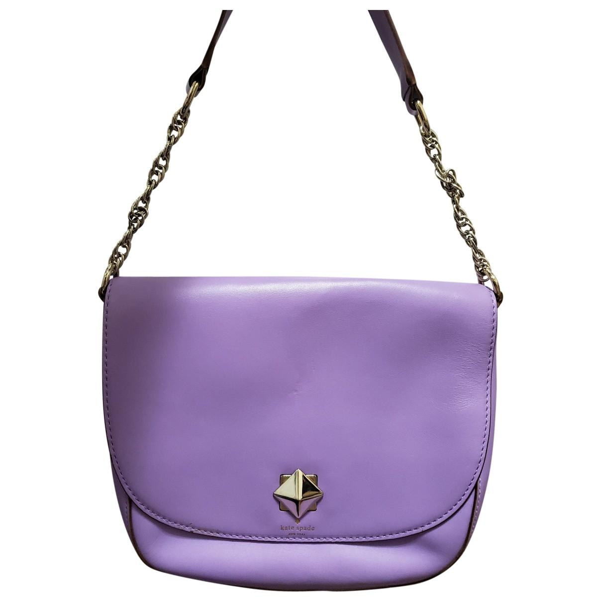 Kate Spade \N Handtasche in  Lila Leder