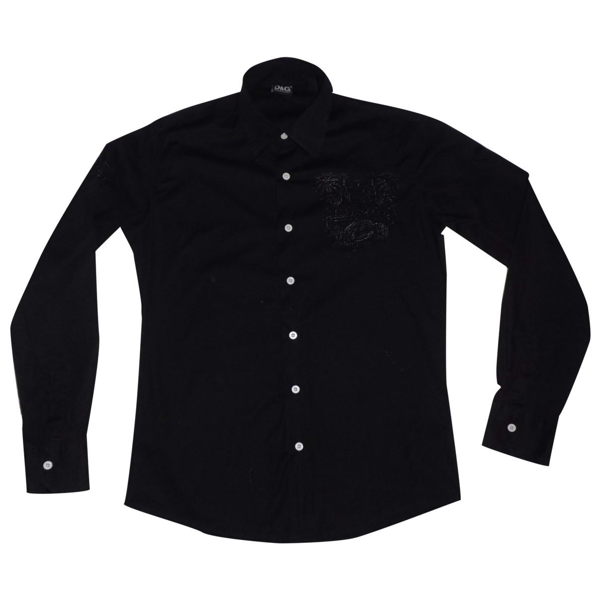 D&g \N Black Cotton Shirts for Men M International